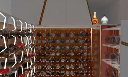 Garrafeira personalizada : Adegas modernas por Volo Vinis