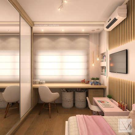 غرفة نوم بنات تنفيذ Laura Mueller Arquitetura + Interiores