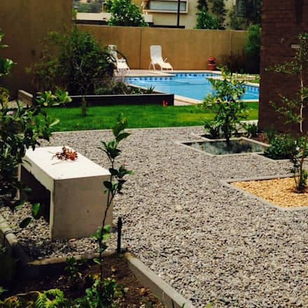 Jardín con piedras : Jardines de estilo clásico por Bächler Paisajismo