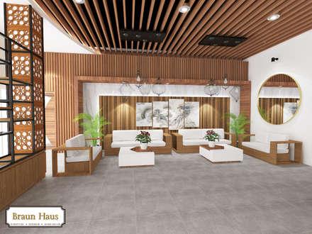 Timber office:  Ruang Kerja by Braun Haus