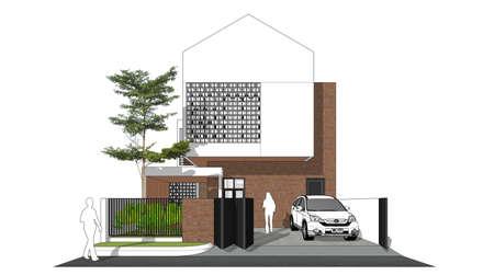 Exterior:  Rumah tinggal  by Rekabentuk ID