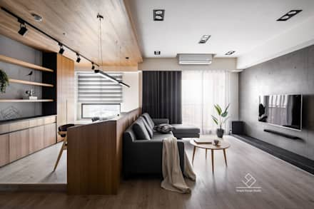 minimalistic Living room by 極簡室內設計