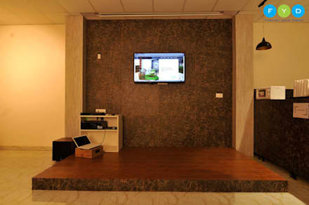 Let's Work - Coworking Space in Noida:  Offices & stores by FYD Interiors Pvt. Ltd