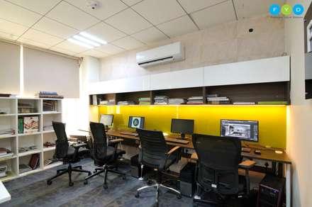 Let's Work - Coworking Space in Noida:  Office buildings by FYD Interiors Pvt. Ltd