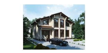 Индивидуальный жилой дом из бруса: Деревянные дома в . Автор – Home Architect