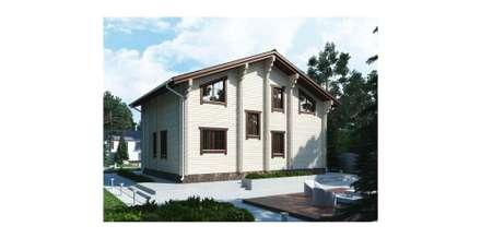 Индивидуальный жилой дом из бруса: Дома на одну семью в . Автор – Home Architect