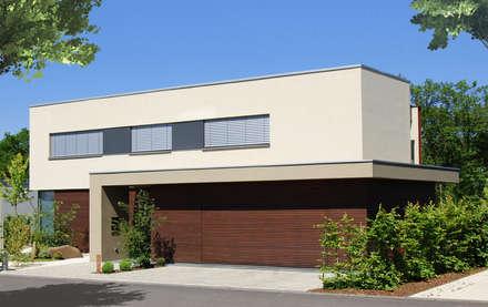 Garage mit Rhombusschalung:  Villa von KERSCH + HANSEN ARCHITEKTEN