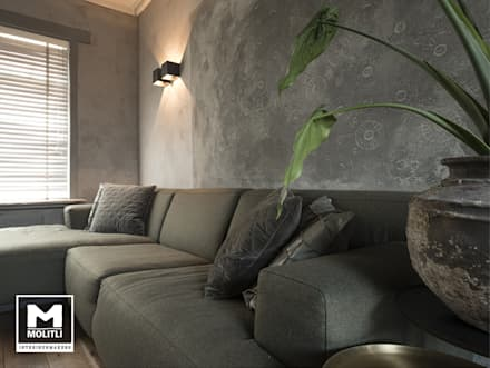 industrial Living room by Molitli Interieurmakers