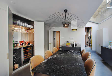 Clapham victorian townhouse - Full refurbishment:  Kitchen units by Maklin & Macrae