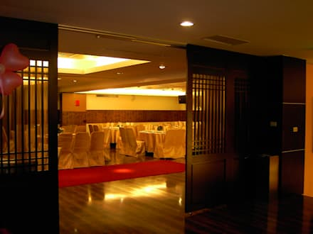 台中婚宴會館:  餐廳 by 利程室內外裝飾 LICHENG
