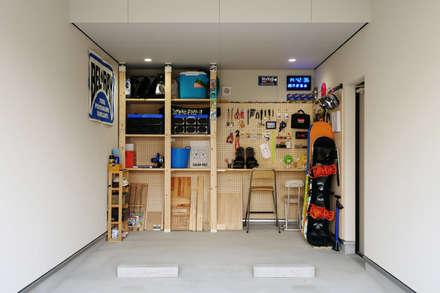 Сборные гаражи в . Автор – タイコーアーキテクト