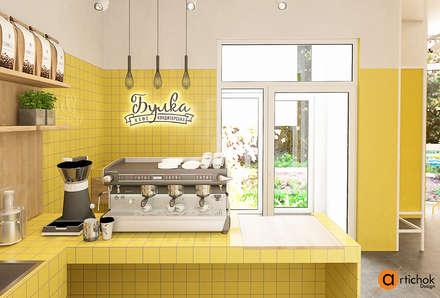 Дизайн интерьера кондитерской в желтом цвете: Офисы и магазины в . Автор – Art-i-Chok