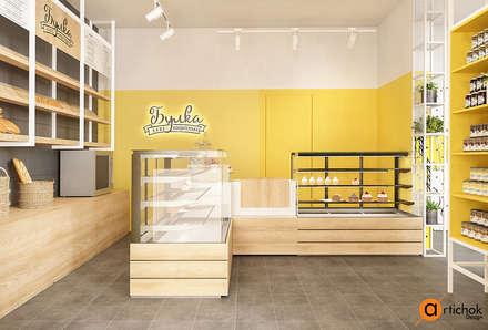 Oficinas y Tiendas de estilo  por Art-i-Chok
