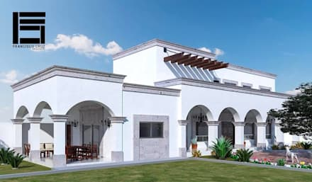 Casas rurales de estilo  de Francisco Cruz & Arquitectos