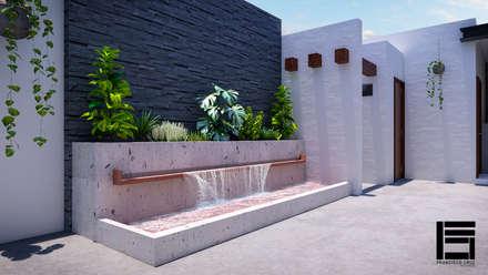 庭院池塘 by Francisco Cruz & Arquitectos