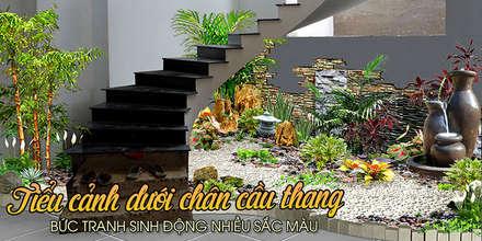 樓梯 by Công Ty Thi Công Và Thiết Kế Tiểu Cảnh Non Bộ