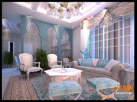 Morrocan Style Interior:  Ruang Keluarga by CV Leilinor Architect