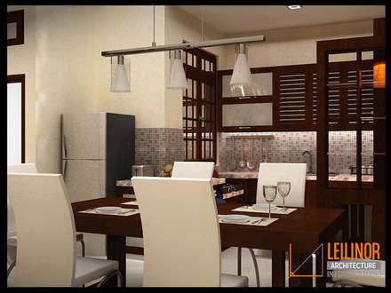 Modern Minimalist House:  Ruang Makan by CV Leilinor Architect