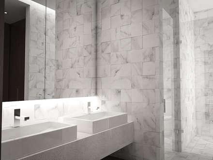 5 Casas en Miami: Baños de estilo minimalista por RRA Arquitectura