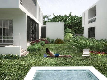 Hồ bơi trong vườn by RRA Arquitectura