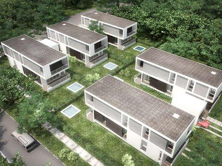 5 Casas en Miami: Jardines de estilo minimalista por RRA Arquitectura