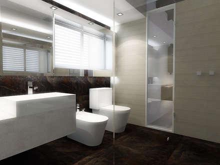 Lomas de Las Mercedes: Baños de estilo minimalista por RRA Arquitectura