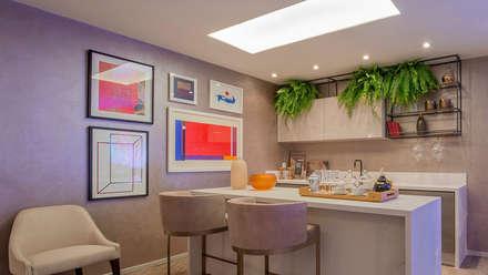 Armarios de cocinas de estilo  por Elaine Ramos | Arquitetos Associados