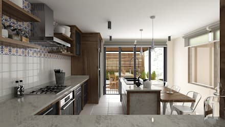 Built-in kitchens by Diseño Integral México