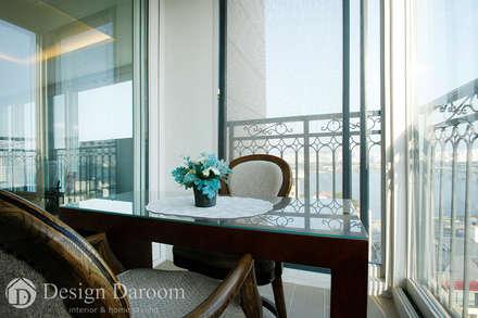 광장동 유진스웰 50py: Design Daroom 디자인다룸의  베란다