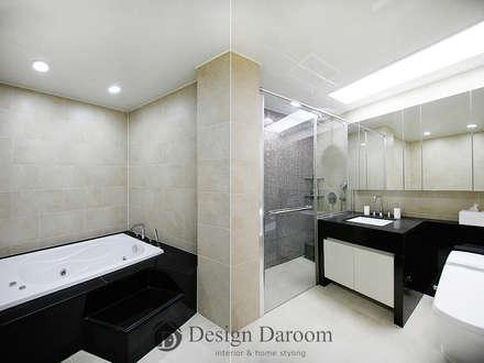 광장동 유진스웰 50py: Design Daroom 디자인다룸의  화장실