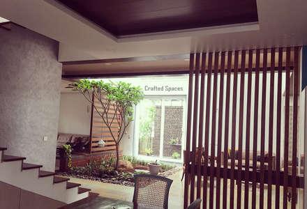 VILLA 46, EKTHA PRIME-GACHIBOWLI, HYDERABAD: minimalistic Dining room by Crafted Spaces