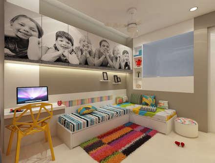 Kids Bedroom :  Teen bedroom by n design studio