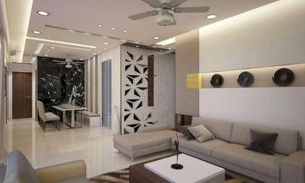 Living Room: Modern Living Room By N Design Studio