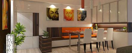 Dinning Area : minimalistic Dining room by n design studio