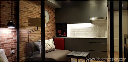 Rustic Vibe at Azure Urban Residences, Paranaque City: rustic Kitchen by Idear Architectural Design Consultancy