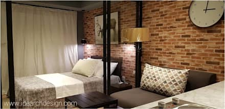 Rustic Vibe at Azure Urban Residences, Paranaque City: rustic Bedroom by Idear Architectural Design Consultancy