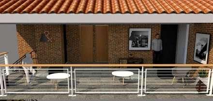 Balcon: Pasillos y vestíbulos de estilo  por Fire Design AR