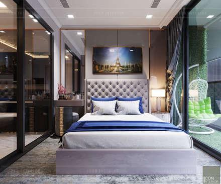 THIẾT KẾ TÂN CỔ ĐIÊN CHO CĂN HỘ TỌA ĐỘ LANDMARK 81:  Phòng ngủ by ICON INTERIOR