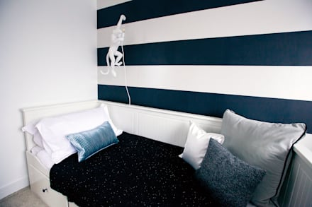 غرفة نوم تنفيذ Sara Slade Interiors