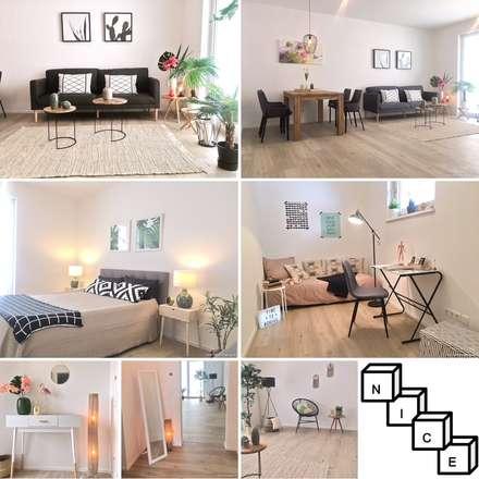 Homestaging Projekt: tropische Wohnzimmer von NICE Homestaging Immobilien Consulting