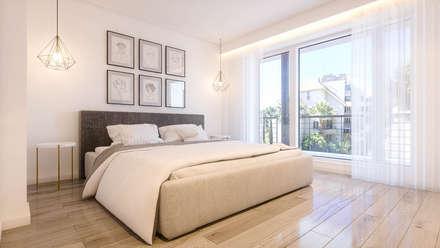 Apartamento Paço de Arcos: Quartos modernos por DV Arquitecto