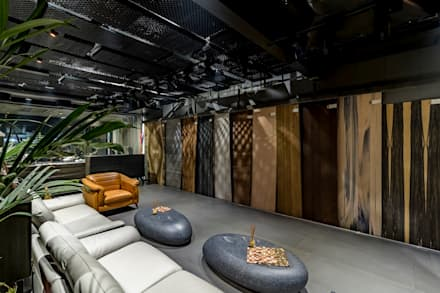 Telesia Veneer Surface: modern Study/office by J9 Associates