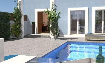Piscinas de jardín de estilo  por perez ipar arquitectura  e decoração