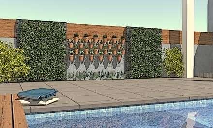 jardim vertical: Jardins mediterrânicos por perez ipar arquitectura  e decoração