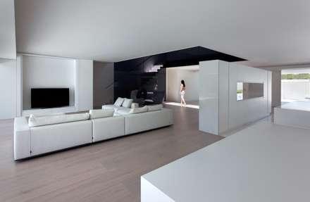 Casa Balint: Salones de estilo minimalista de FRAN SILVESTRE ARQUITECTOS