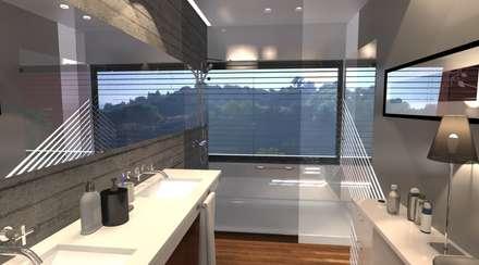 Uma casa de banho de sono: Casas de banho modernas por perez ipar arquitectura  e decoração