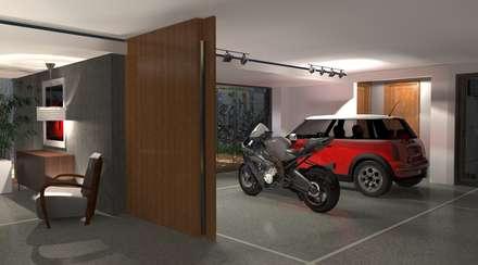 Garajes abiertos de estilo  de perez ipar arquitectura  e decoração