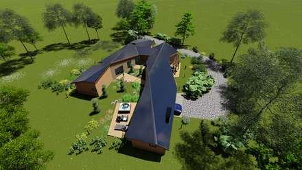 Techos de estilo  por Nomade Arquitectura y Construcción spa