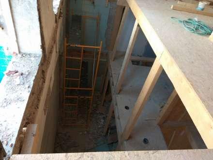 Lofts Cândido dos Reis -  Estrutura interior : Paredes  por PROJETARQ