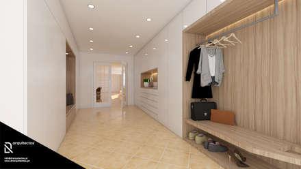 Casa na Freiria | Design Interior: Closets minimalistas por DR Arquitectos